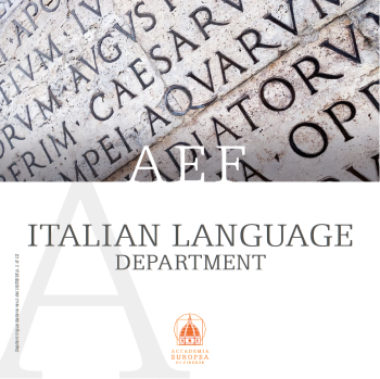 ITALIAN LANGUAGE BROCHURE